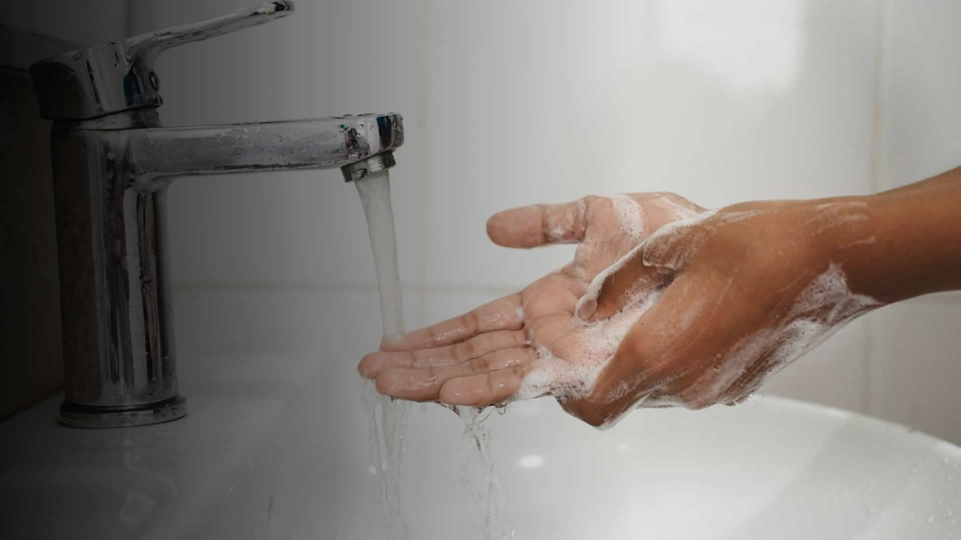 Washing hands to prevent infection